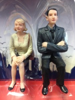 G Scale Sitting Man and Woman