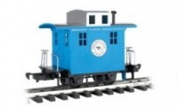 Caboose Short Line Railroad - Blue with Silver roof - Li'l  Big Haulers