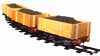 MSS Real Wood Coal Wagon (Rake of 3)