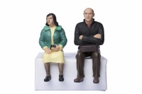 16mm Scale Locomotive Sitting Man and Woman