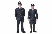 G Scale Policeman and Policewoman