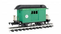 Baggage - Short Line Railroad - green with black roof - Li'l  Big Haulers