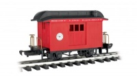 Baggage - Short Line Railroad - Red with Black Roof - Li'l  Big Haulers[1]