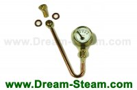 Roundhouse Pressure Gauge and Syphon for Basic Series Locos