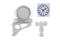 Roundhouse White Metal Station Wall Clock