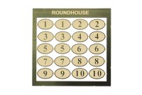 Roundhouse Number plates 1-10