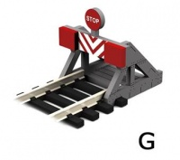 Buffer Stop with assorted Decals (Pair)