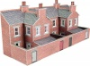 Metcalfe N Scale Low Relief Terraced House Backs Red Brick Style