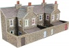 Metcalfe N Scale Low Relief Terraced House Backs Stone Style