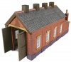 Metcalfe N Scale Red Brick Single Track Engine Shed