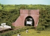 Wills Kits OO Gauge Brick Tunnel Mouth & Wing Walls, single track